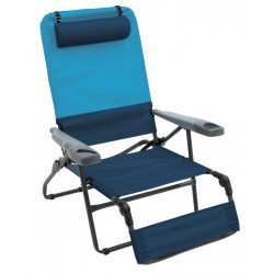 Rio Gear 4-Position Ottoman Lounger - Blue Sky and Navy (GR569-432-1)