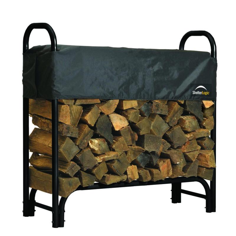 Shelter Logic 4 ft Heavy Duty Firewood Rack Cover (90401)