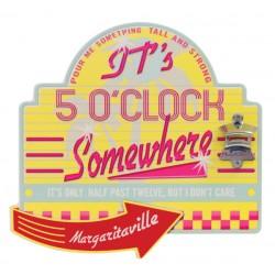 Margaritaville Bottle Opener Sign with Magnetic Cap Catcher - Diner (PSSM01-MV-1)
