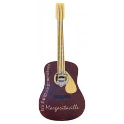 Margaritaville Bottle Opener Sign with Magnetic Cap Catcher - Guitar (PSSM03-MV-1)