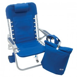 Rio Lace-Up Backpack Beach Chair with Removable Pouch - Blue (SC529R-46-1