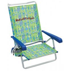 Margaritaville 5-Position Beach Chair - Green Fish (SC196MV-503-1)