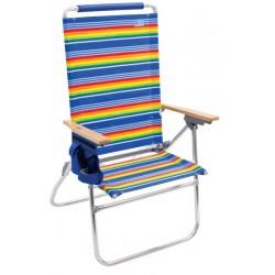 Rio Beach Hi-Boy Tall Back Beach Chair - Multi Stripe (SC644-1909-1)