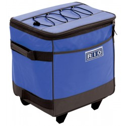 Rio Gear Rolling Soft Sided Cooler - Blue (RSC1-46-1)