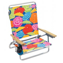 Rio Beach Classic 5-Position Lay-Flat Beach Chair - Umbrella Print (SC592-900-1)
