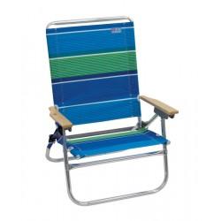 Rio Beach 4-Position Easy-In Easy-Out Beach Chair - Stripe (SC602-1905-1)