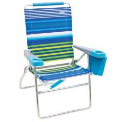 Rio Beach 4-Position 17 inch Tall Beach Chair - Stripe (SC617-1911-1)