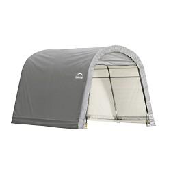ShelterLogic 10x10x8 ft Round Style Storage Shed - Grey (70435)
