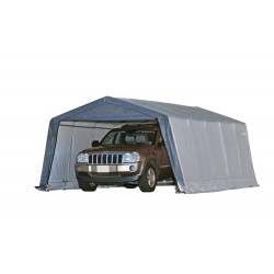 Shelter Logic 12×20×8 Peak Style Shelter - Grey (62790)