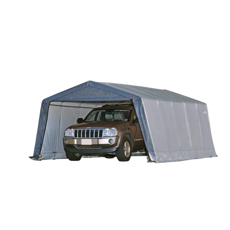 Shelter Logic 12×20×8 Peak Style Shelter - Grey (62790)