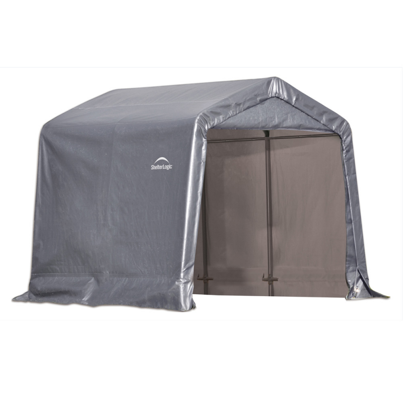 Shelter Logic 8×8×8 Peak Style Storage Shed - Grey (70423)