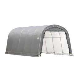 Shelter Logic 12×20×8 ft Round Style Shelter - Grey (62780)
