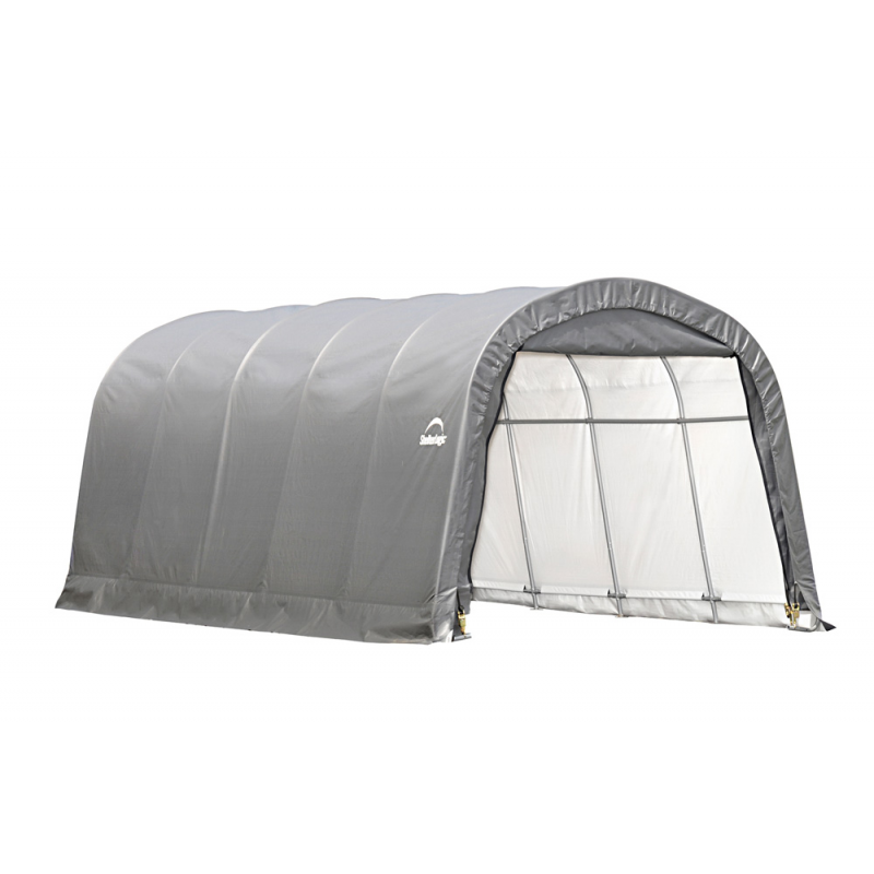 Shelter Logic 12x20x8 ft Round Style Shelter - Grey (62780)