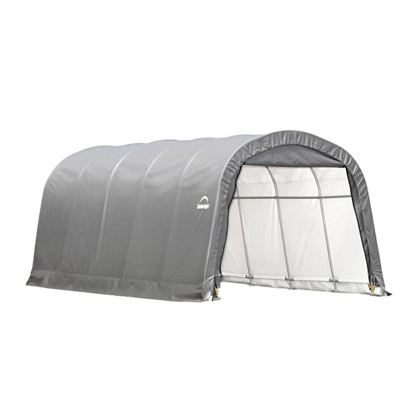 Shelter Logic12x20x8 ft Round Style Shelter - Grey (62780)