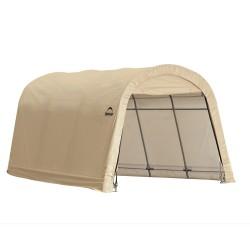 Shelter Logic 10x15x8 ft Round Style Auto Shelter - Sandstone (62689)