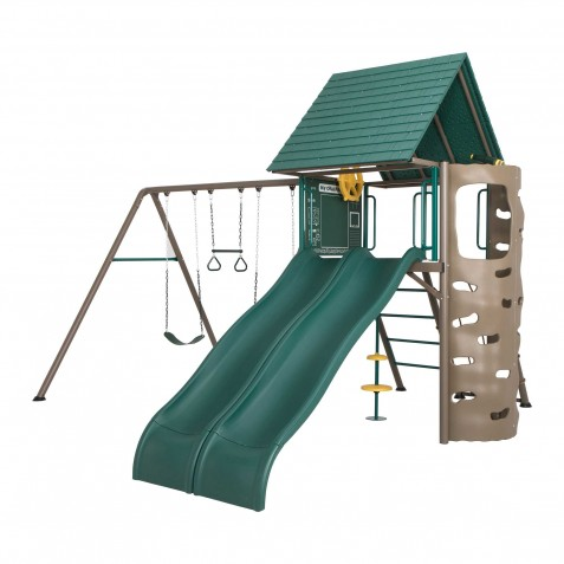 Lifetime Big Stuff Adventure Swing Set - Brown and Green (90797)