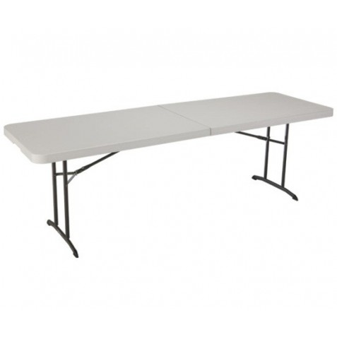 Lifetime 8 ft. Commercial Fold-In-Half Table with Handle (Almond) 80175