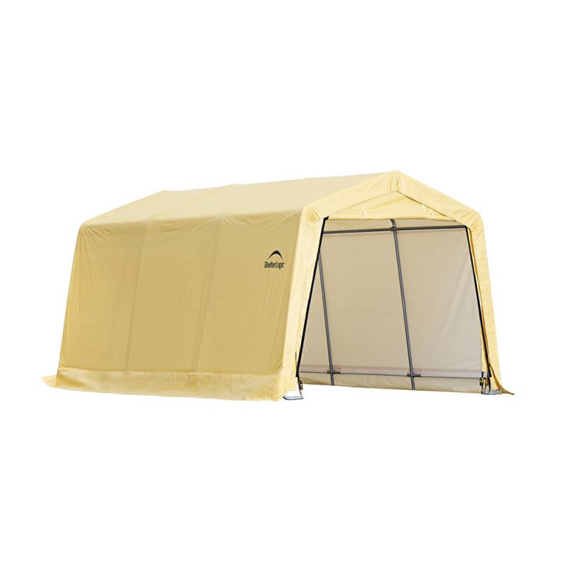 Shelter Logic 10X15x8 Auto Shelter Peak Style Frame - Sandstone (62681)