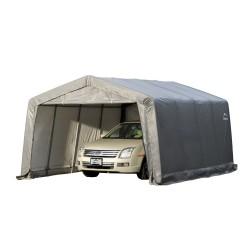 Shelter Logic 12×16×8 Peak Style Shelter - Grey (62697)
