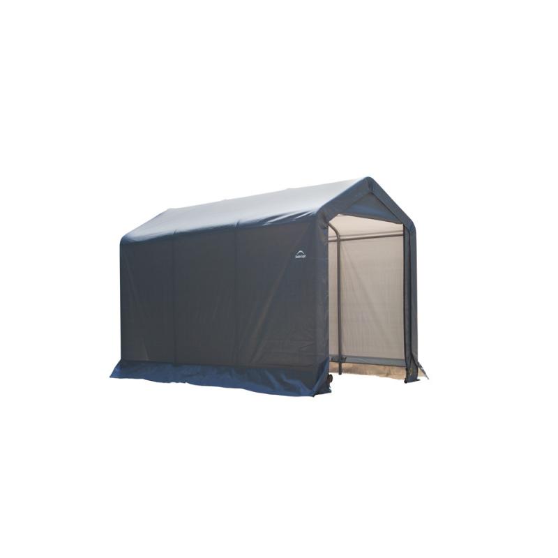 Shelter Logic 6×10×6 Peak Style Storage Shed - Grey (70403)