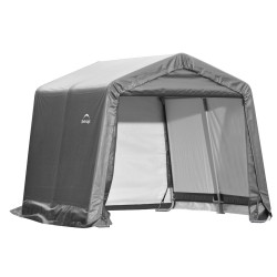 Shelter Logic 10×10×8 Peak Style Storage Shed - Grey (70333)