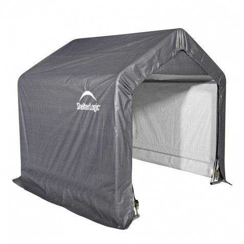 Shelter Logic 6x6x6 Peak Style Storage Shed - Grey (70401)