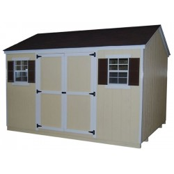 Little Cottage Company Workshop 8' x 14' Storage Shed Kit (8x14 VWS-WPC)