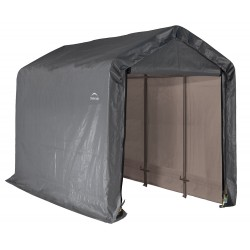 ShelterLogic 6×12×8 Peak Style Storage Shed - Grey (70413)