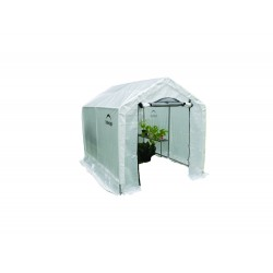 Shelter Logic 6x8x6'6 Peak Style Organic Greenhouse integrated shelving - Black (70600)