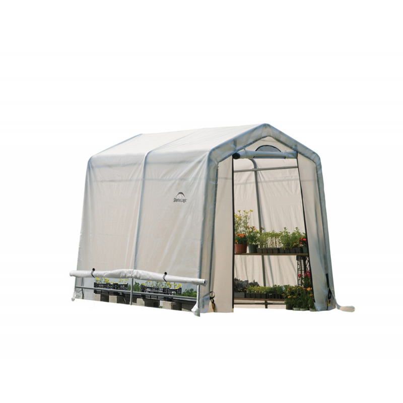 Shelter Logic 6x8x6ft Rib Peak Style Greenhouse Translucent - Black (70652)