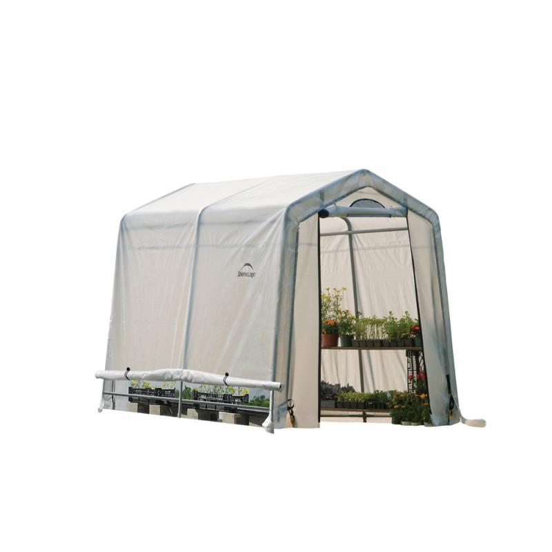 ShelterLogic 6x8x6ft Rib Peak Style Greenhouse Translucent - Black (70652)