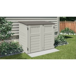 Suncast 34 Cubic Feet Horizontal Resin Storage Shed - Vanilla (BMS2500)