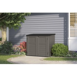 Suncast 34 Cubic Feet Horizontal Resin Storage Shed - Stoney (BMS2500SB)