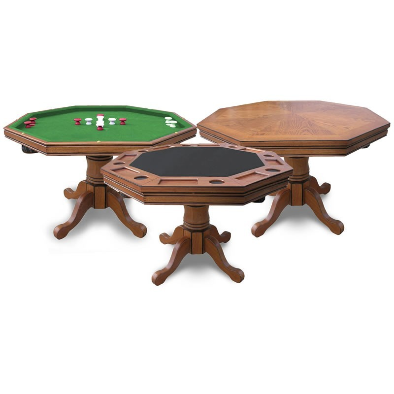 Antique Dark Oak Poker Table Only (NG2351T)