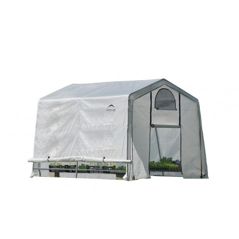 Shelter Logic 10x10x8 ft Rib Peak Style Greenhouse Translucent - Black (70652)