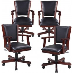 Walnut Poker Chair (Set Of 4) (NG2366CH)