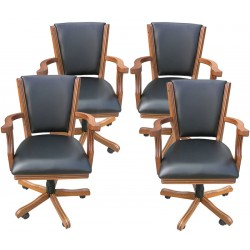 Antique Dark Oak Poker Chair (Set Of 4) (NG2351CH)