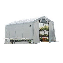 ShelterLogic 10x20x8 ft Rib Peak Style Greenhouse Translucent - Black (70652)