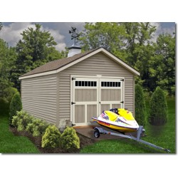 Best Barns Weston 12x24 Wood Garage Kit - All Pre-Cut (weston_1224