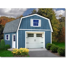Best Barns Jefferson 16x28 Wood Garage Kit - All Pre-Cut (jefferson_1628)