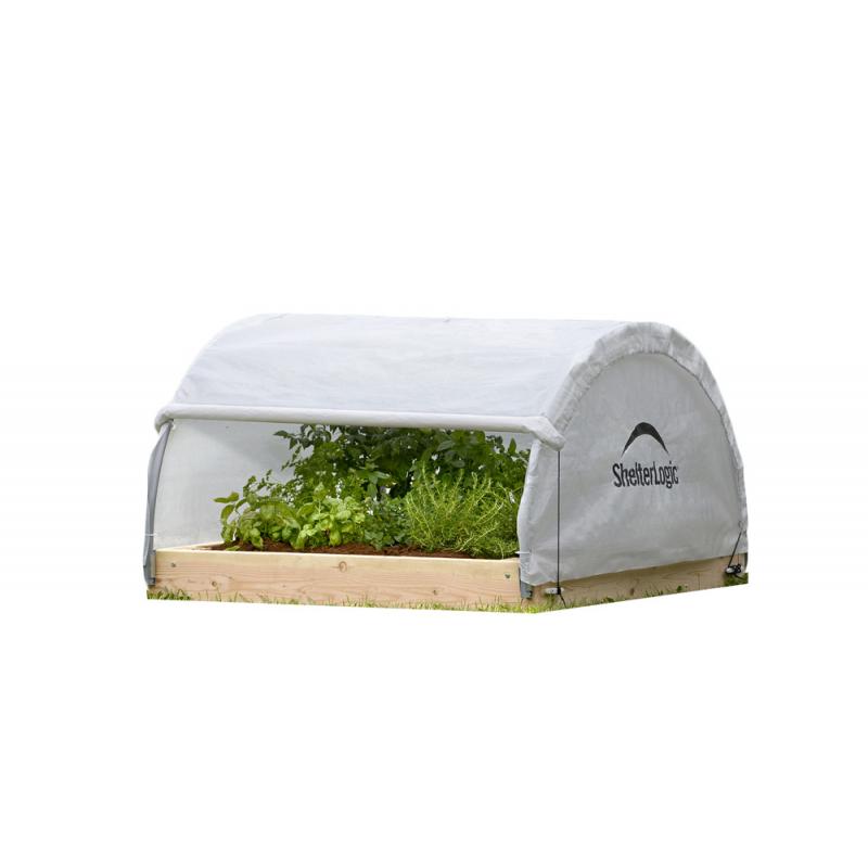 ShelterLogic 4x4x1'11 Round Raised Bed Greenhouse - Fully Closable (70617)