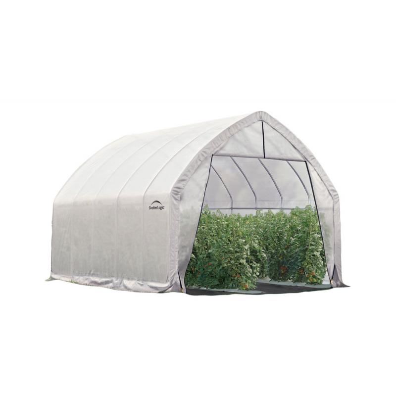 Shelter Logic 13x20x12ft Heavy Duty Greenhouse - Zipper Door (70560)