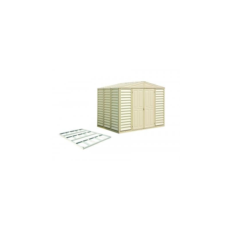 WoodBridge - 10.5' x 10' Woodbridge Vinyl Shed w/ Foundation Kit 00484