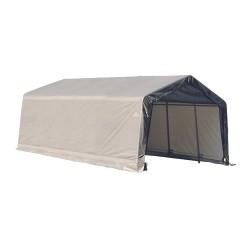 Shelter Logic 13x20x10 Peak Style Shelter, Grey (73432)