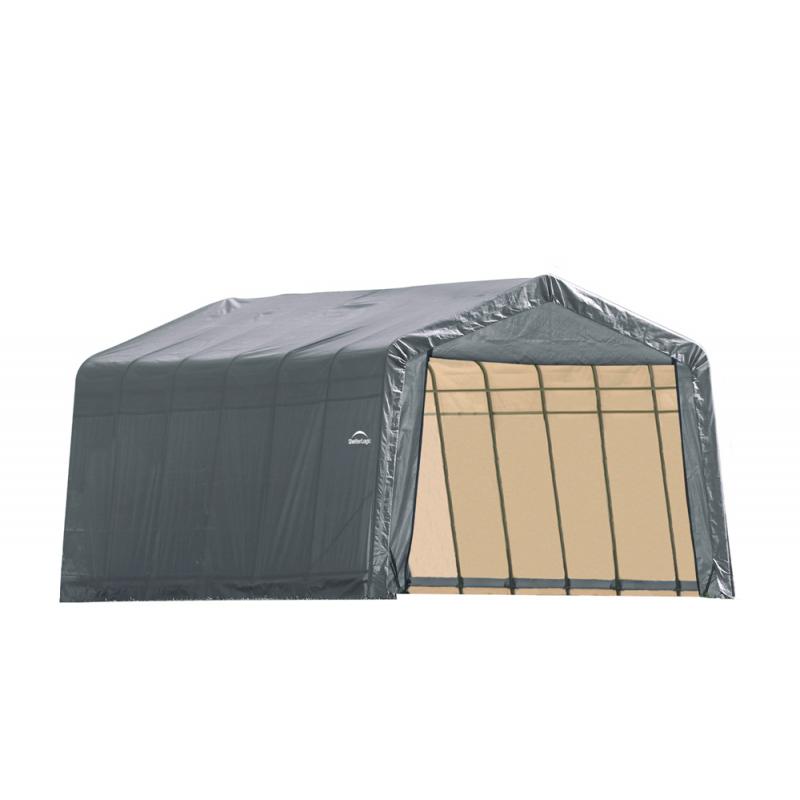 Shelter Logic 13x28x10 Peak Style Shelter, Grey (90243)