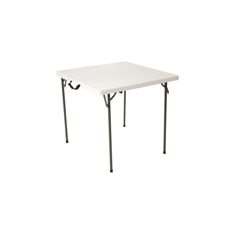 "Lifetime 34"" Fold-In-Half Card Table (White Granite) 80273"