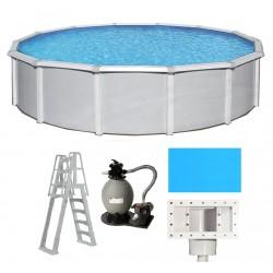 Blue Wave Samoan 27' Round 52 A/G Pool Package (NB1645-PKG)