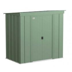 Arrow 6x4 Classic Steel Storage Shed Kit - Sage Green (CLP64SG)