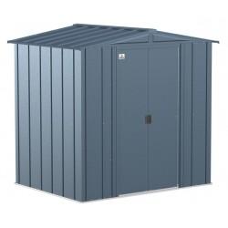 Arrow 6x5 Classic Steel Storage Shed Kit - Blue Grey (CLG65BG)