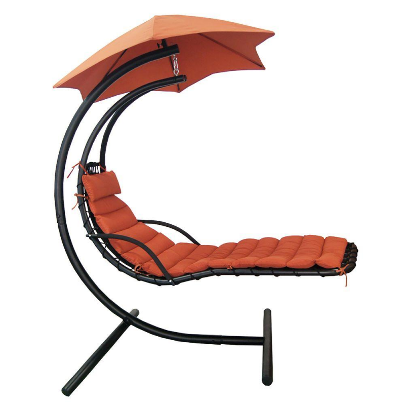Hanging Lounge w/ Shade Canopy in Terra Cotta (NU3220)